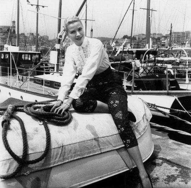 Grace Kelly au festival de Cannes le 6 mai 1955